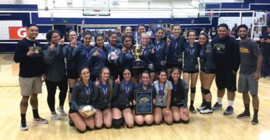 Photo of San Pedro High School Girls Volleyball 2018 CIF-LACS Champions