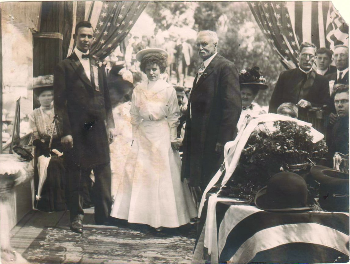 Photo from The ceremonial marriage of San Pedro and the City of L.A.; (photo: San Pedro Bay Historical Society, Angela Romero)