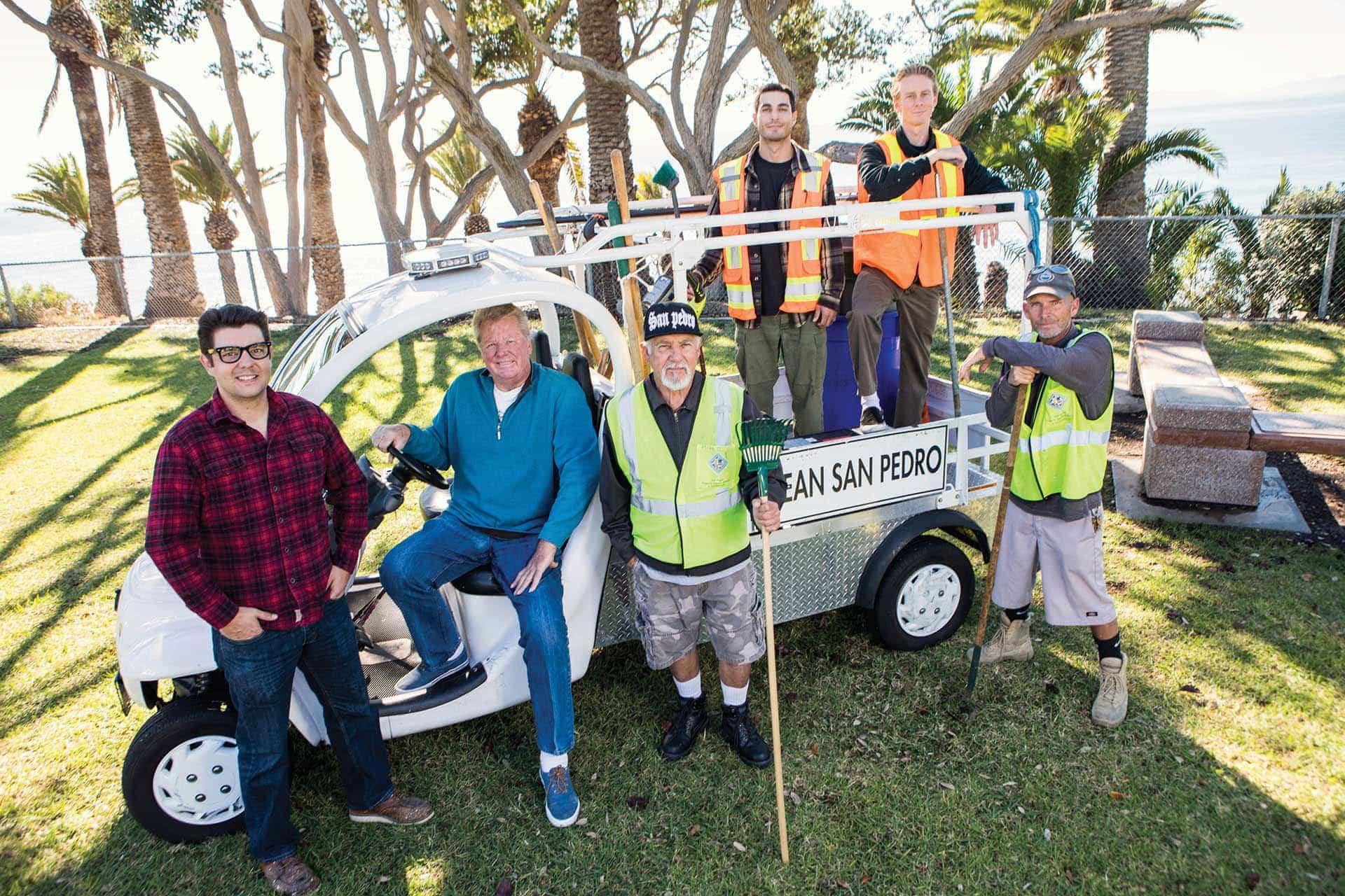 Photo of Clean San Pedro crew (l to r) Casey Warren, Steve Kleinjan, Mike Ornelas, Robby Lorenzi, Cameron White and Steve Adams. (photo: John Mattera Photography)
