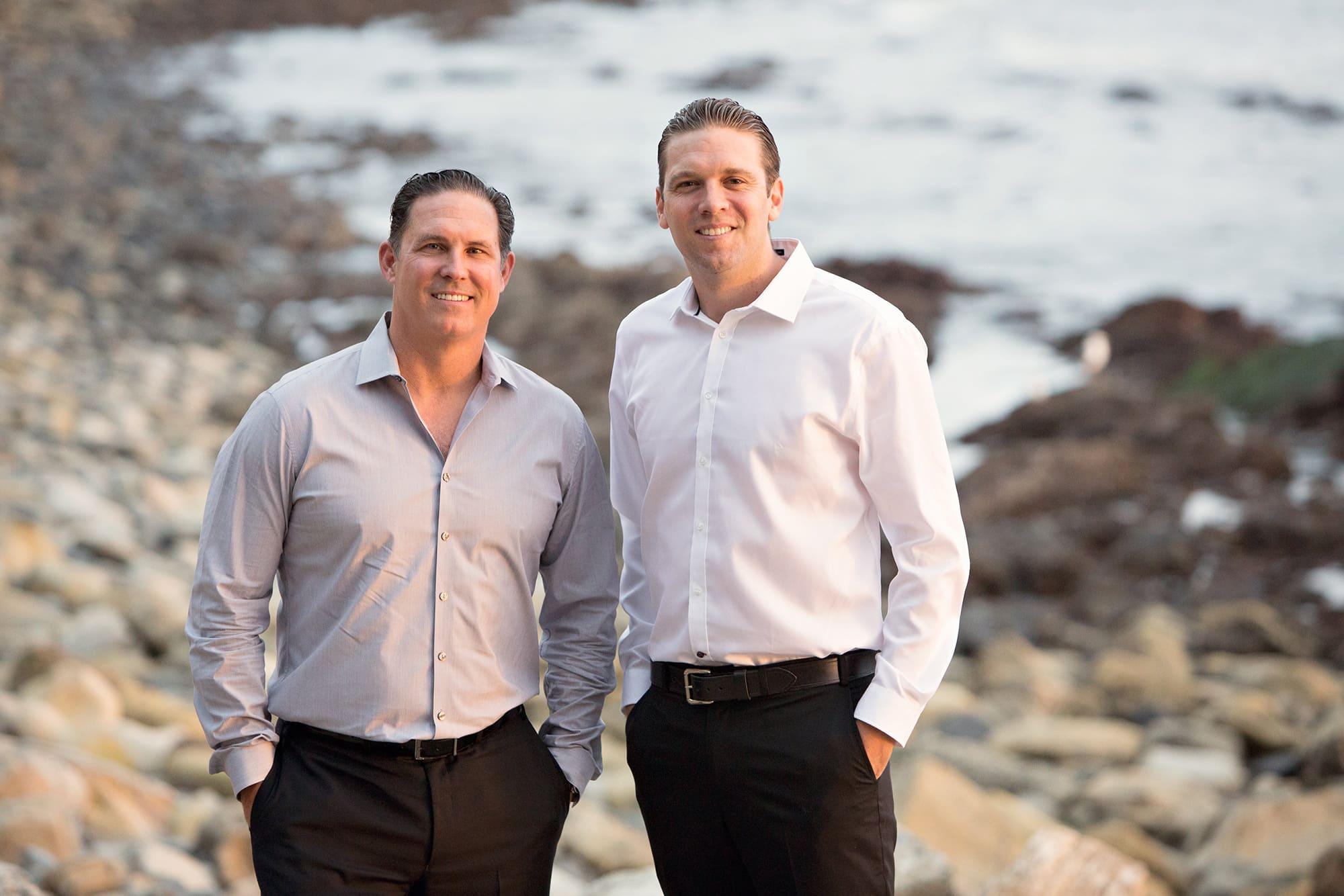 Photo of Mike Harper and Peter Hazdovac of San Pedro California