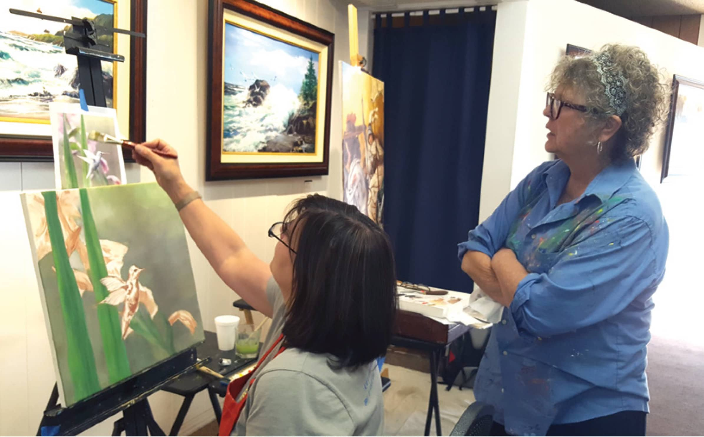 Photo of artists working in Parkhurst Galleries San Pedro California