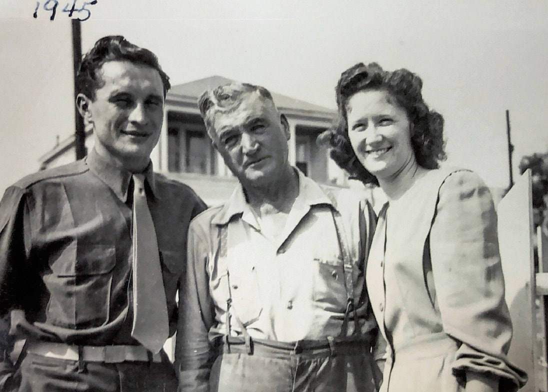 Photo of Mario and Miranda Mussa of San Pedro California with Giovanni Morogna, Miranda's father. (Photo courtesy Mussa family)