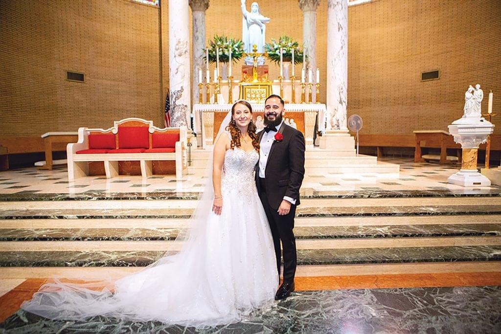 Wedding photo of Elizabeth and Enrique Manzano in San Pedro California. (Photo by Darren Wellhoefer)