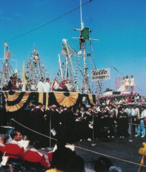 Photo of The blessing of the fleet at the Fishermen's Fiesta. (photos: courtesy Los Angeles Maritime Museum)