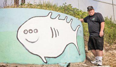 Photo of Original 'Three-Eyed Fish' artist, Dave Butkus (photo: John Mattera Photography)