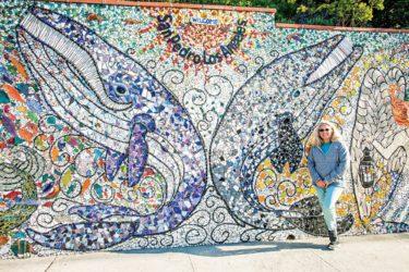Photo of mosaic artist julie bender in san pedro california