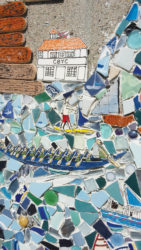 Photo of mosaic by artist julie bender in san pedro california