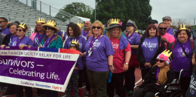 Photo of volunteers for San Pedro Relay for Life event