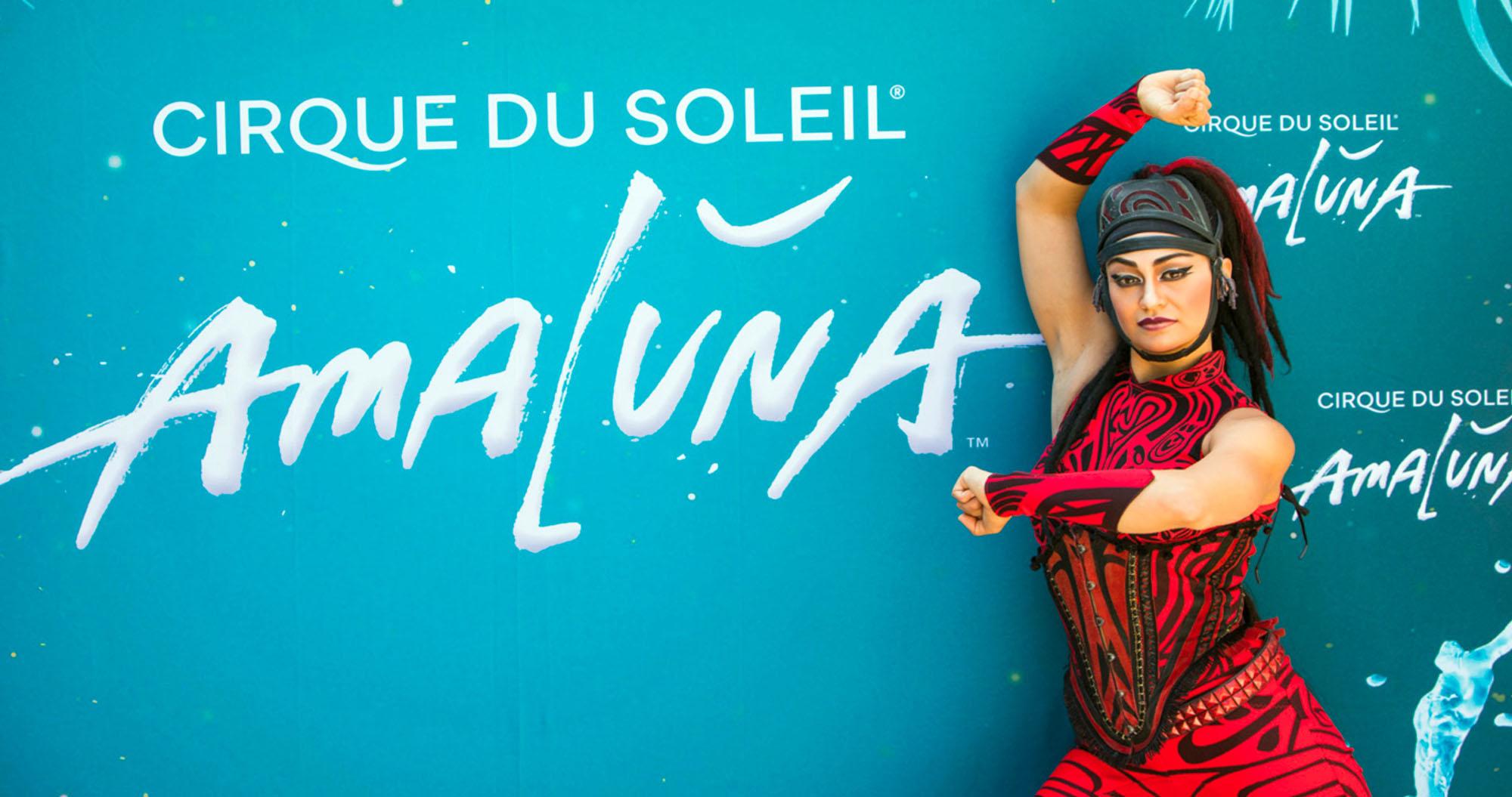 Photo of Amara Defilippo a performer in the Cirque du Soleil show Amaluna