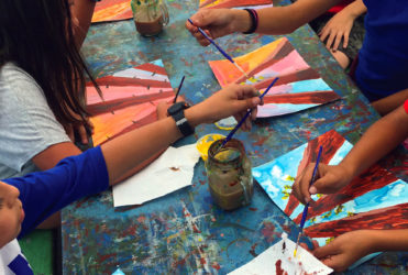 Photo of children making art in San Pedro California