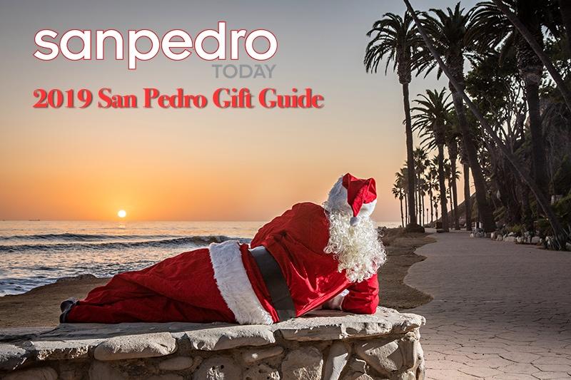 Santa Claus sits at Royal Palms State Beach in San Pedro, CA.